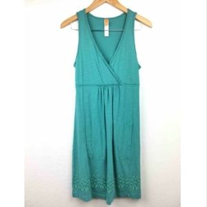 Lucy Green A line Dress With pockets
